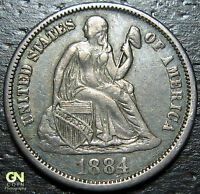 1884 P SEATED DIME  --  MAKE US AN OFFER  Y9866