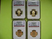 2007-S PRESIDENTIAL NGC PF69 ULTRA CAMEO 4-COIN DOLLAR PROOF SET
