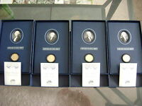 2007 US MINT PRESIDENTIAL $1 COIN HISTORICAL SIGNATURE 4-COIN PROOF SETS