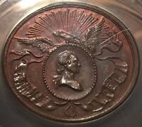 1832 WASHINGTON BIRTH CENTENNIAL U.S.MINT MEDAL -- ANACS MINT STATE 63 BROWN   COLOR