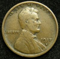 1917 D LINCOLN WHEAT CENT PENNY G GOOD  B05