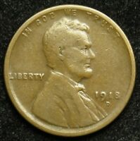 1918 D LINCOLN WHEAT CENT PENNY G GOOD  B01