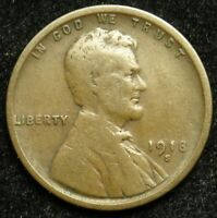1918 S LINCOLN WHEAT CENT PENNY VG GOOD  B01