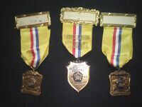 1940 AMERICAN LEGION STATE REPRESENTATIVE MEDALLIONS LOT OF 3