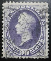 U.S.STAMP:SCOTT218 90C PURPLE THE AMERICAN BANKNOTE CO. ISSUES OF 1888