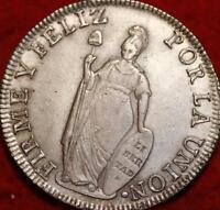 1834 PERU 8 REALES SILVER FOREIGN COIN