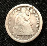 1853 O H10C ARROWS AT DATE LIBERTY SEATED HALF DIME/VARIETY 3 1853 55