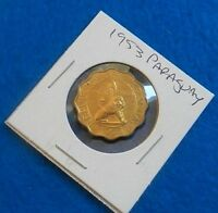 1953 PARAGUAY 50 CENTIMOS   AWESOME COIN   FULL LUSTER