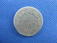 1872 U.S 5 CENT SHIELD NICKEL COIN