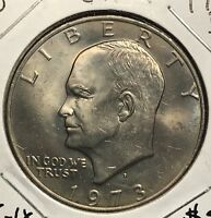 1973-D EISENHOWER DOLLAR.  COLLECTOR COIN FOR SET OR COLLECTION. 1