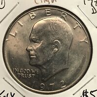 1972-D EISENHOWER DOLLAR.  COLLECTOR COIN FOR SET OR COLLECTION. 1