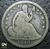 1840 P SEATED HALF DIME  --  MAKE US AN OFFER  Y9853