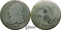 1837 10C CAPPED BUST SILVER DIME DECENT  OLD TYPE COIN MONEY