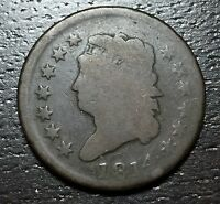 1814 CLASSIC HEAD LARGE CENT --  MAKE US AN OFFER  W3408  ZXCV