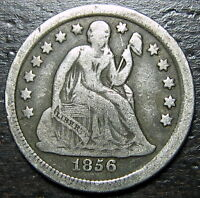 1856 P SEATED DIME  --  MAKE US AN OFFER  R5396