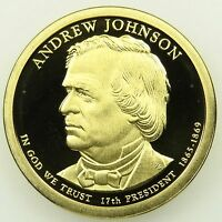 2011 S DEEP CAMEO PROOF ANDREW JOHNSON PRESIDENTIAL DOLLAR B01