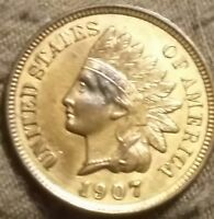 1907 INDIAN CENT RED
