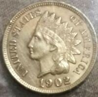 1902 INDIAN CENT - UNC DETAILS CLEANED