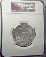 2011 5 OUNCE SILVER GLACIER  ATB QUARTER NGC GEM UNCIRCULATED EARLY RELEASES