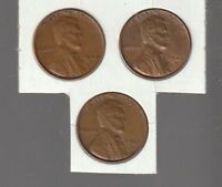1940D / 1941D / 1942D   LINCOLN  CENTS  RS COINS  ALL 3  EXTRA FINE  11506