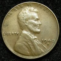 1940 D LINCOLN WHEAT CENT PENNY VF  FINE B04