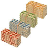 1000 FLAT STANDARD STRIPED COIN ROLL WRAPPERS FOR U.S. COINS - 250 EACH O NEW