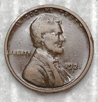 1921-S SAN FRANCISCO MINT LINCOLN WHEAT CENT