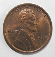 1916 LINCOLN CENT, CIRCULATED AND UNGRADED