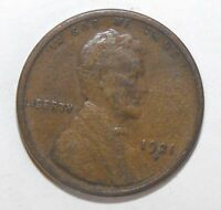 1921S LINCOLN CENT, CIRCULATED AND UNGRADED