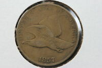 1857 FLYING EAGLE CENT EXTRA FINE  8WWV
