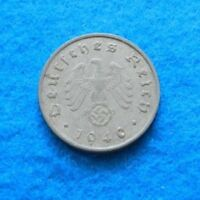 1940 A - GERMANY 10 REICHSPFENNIG  - AWESOME ZINC COIN - SEE PICS