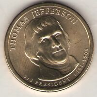 US. 2007-D. THOMAS JEFFERSON. 3RD PRESIDENT 1801-08 UNC