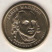 US. 2007-D. JAMES MADISON. 4TH PRESIDENT 1809-16 UNC