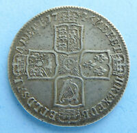 GB KING GEORGE II   1746 LIMA HALF CROWN SILVER COIN   COLLE