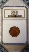 1865 TWO CENT PIECE - NGC MINT STATE 65RB 554935-004