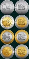 NEW: KENYA COINS SET OF 4 COINS  2018 ; INCLUDES   1 5 10 20 SHILLINGS  ALL MINT
