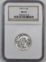 1923-S STANDING LIBERTY QUARTER NGC MINT STATE 63