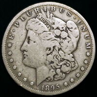 1895 S US UNITED STATES MORGAN $1 ONE DOLLAR .900 SILVER COL