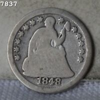 1848 O LIBERTY SEATED HALF DIME  FREE SH AFTER 1ST ITEM