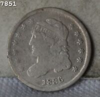 1836 CAPPED BUST HALF DIME  FREE S/H AFTER 1ST ITEM