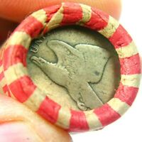 1858 FLYING EAGLE & LINCOLN WHEAT PENNY ON ENDS OF A WHEAT C