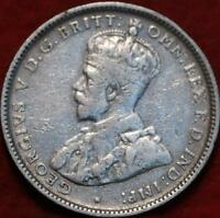 1922M AUSTRALIA SHILLING SILVER FOREIGN COIN