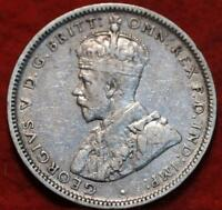 1918M AUSTRALIA SHILLING SILVER FOREIGN COIN