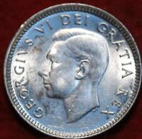 UNCIRCULATED 1952 CANADA 10 CENTS SILVER FOREIGN COIN