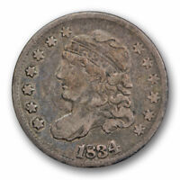 1834 CAPPED BUST HALF DIME FINE F ORIGINAL US TYPE COIN 73