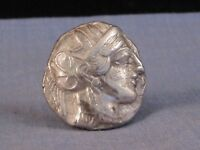 ANCIENT GREEK COIN ATHENS SILVER TETRADRACHM 454 404BC VF OW