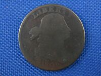 1802 STEMLESS WREATH DRAPED BUST COPPER LARGE CENT COIN