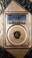 1854 SEATED LIBERTY ARROWS HALF DIME - PCGS MINT STATE 62 32158141