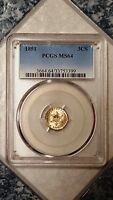 1851 THREE CENT SILVER - PCGS MINT STATE 64 33753399