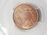 1864 LARGE MOTTO TWO CENT PIECE - PCGS MINT STATE 64RB 82476239